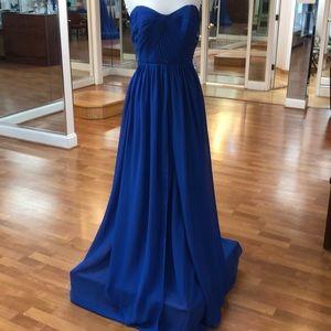 Convertible royal blue bridesmaid dress